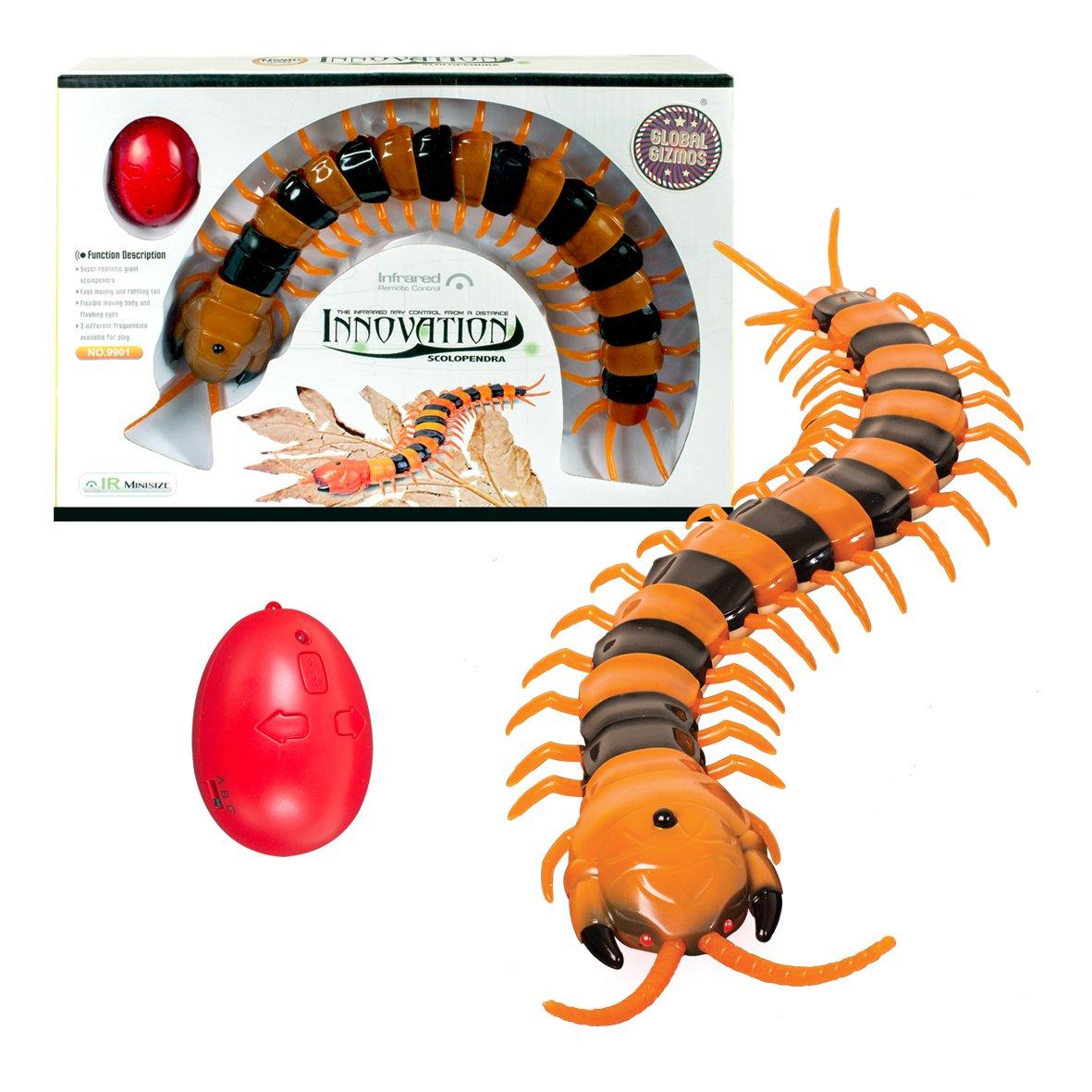 Global Gizmos 138.785, 6 cm batteriebetrieben Infrarot Fernbedienung Centipede Insekten Spielzeug Benross 54640