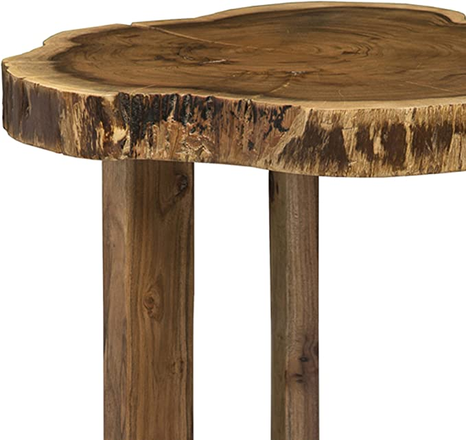 Berkshire Live Edge Solid Wood 20 Round End Table Natural Amazon Ca Home Kitchen