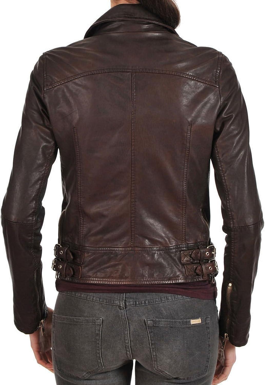 Kingdom Leather Women Leather Jacket Coat Genuine Lambskin Pure Leather Bomber Biker Jacket XW427