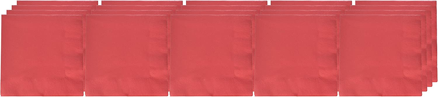 Amscan 3-Ply Dinner Napkins Party Supplies, One Size, Apple Red