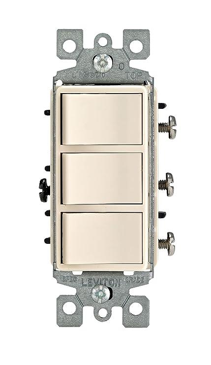leviton 1755 t 15 amp 120 volt decora single pole ac combination rh amazon com