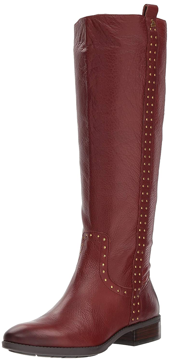 Redwood Brown Leather Sam Edelman Womens Prina Knee High Boot