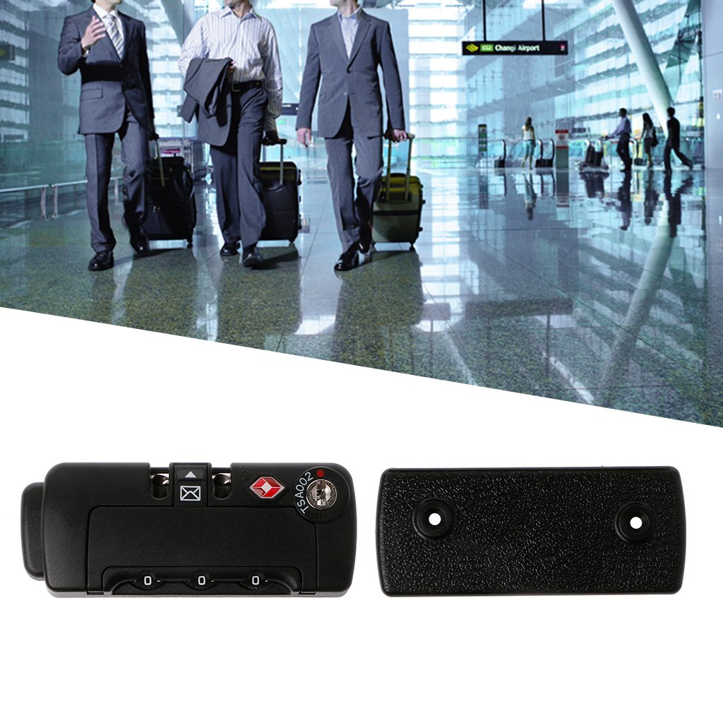 3 Digital Code Combination Padlock Luggage Suitcase Travel TSA Secure Lock Peace Of Mind To Travel By Sixson