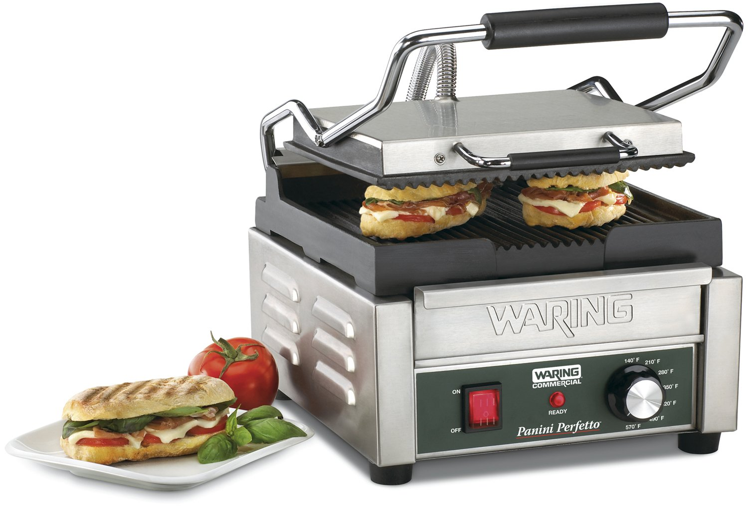 Waring Commercial Wpg150 Compact Italian Style Panini Grill 120 Volt Amazon In Home Kitchen