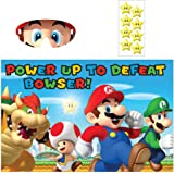 "Super Mario Brothers Birthday Party Game Activity, Paper, 37"" x 24"", Pack of 3"