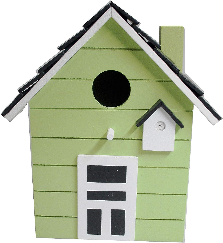 Nido Casa para pájaros 20cm multicolor (Verde lima)