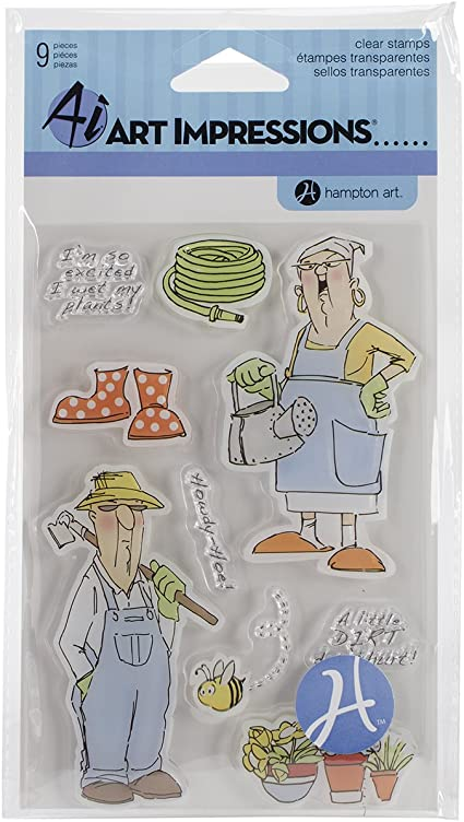 4 x 6 Get Well Clear Hampton Art SC0681 Art Impressions People Clear Rubber Stamps