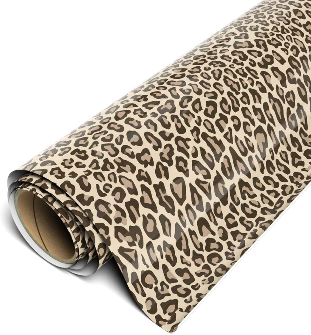Siser Heat Transfer Vinyl Modern Leopard Animal Print Printed HTV Oracal Adhesive Craft Vinyl- 979 Pattern HTV