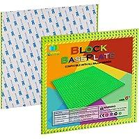 "EKIND 2 PCS Self Adhesive Classic Building Brick Plate 10"" x 10"" Compatible with Building Brickyard Blocks All Major…"
