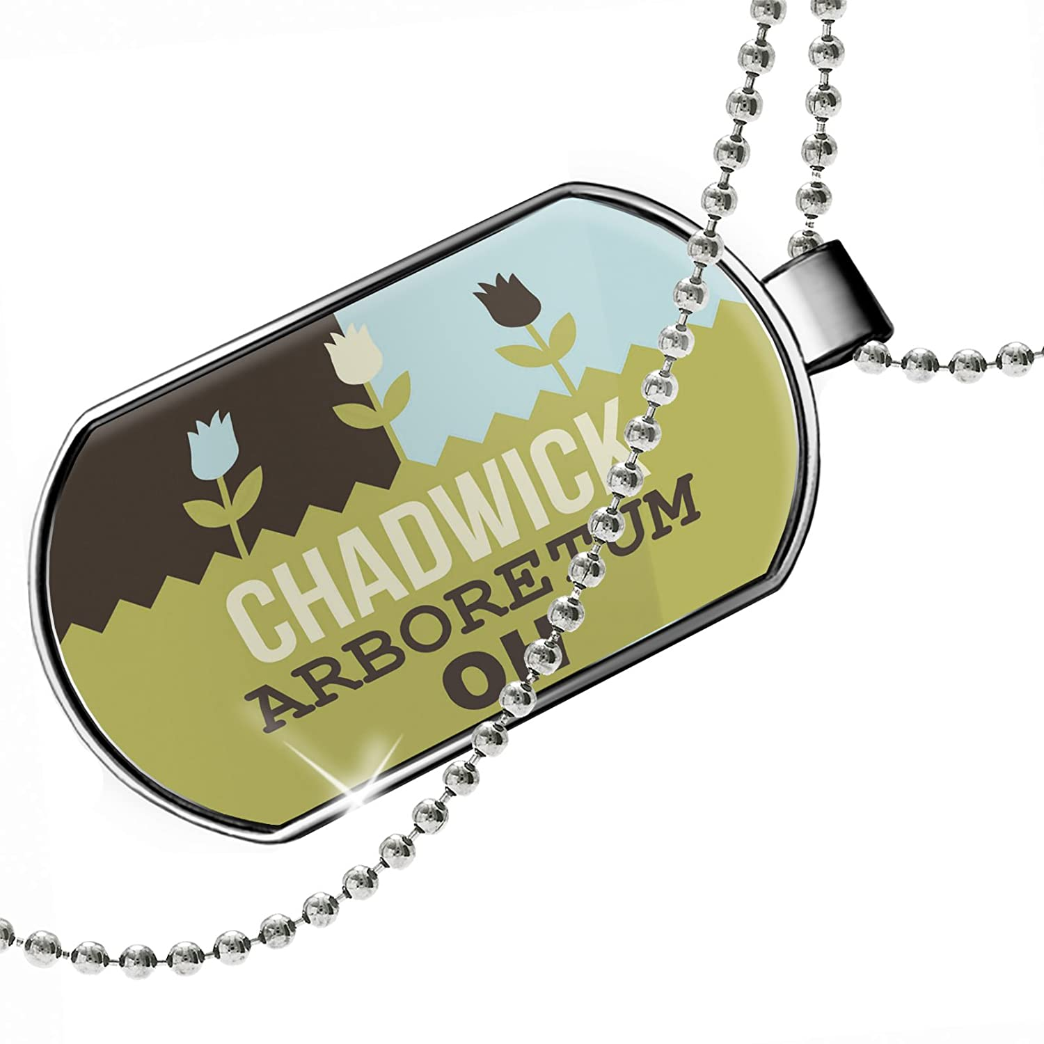 OH Dogtag Necklace NEONBLOND Personalized Name Engraved US Gardens Chadwick Arboretum