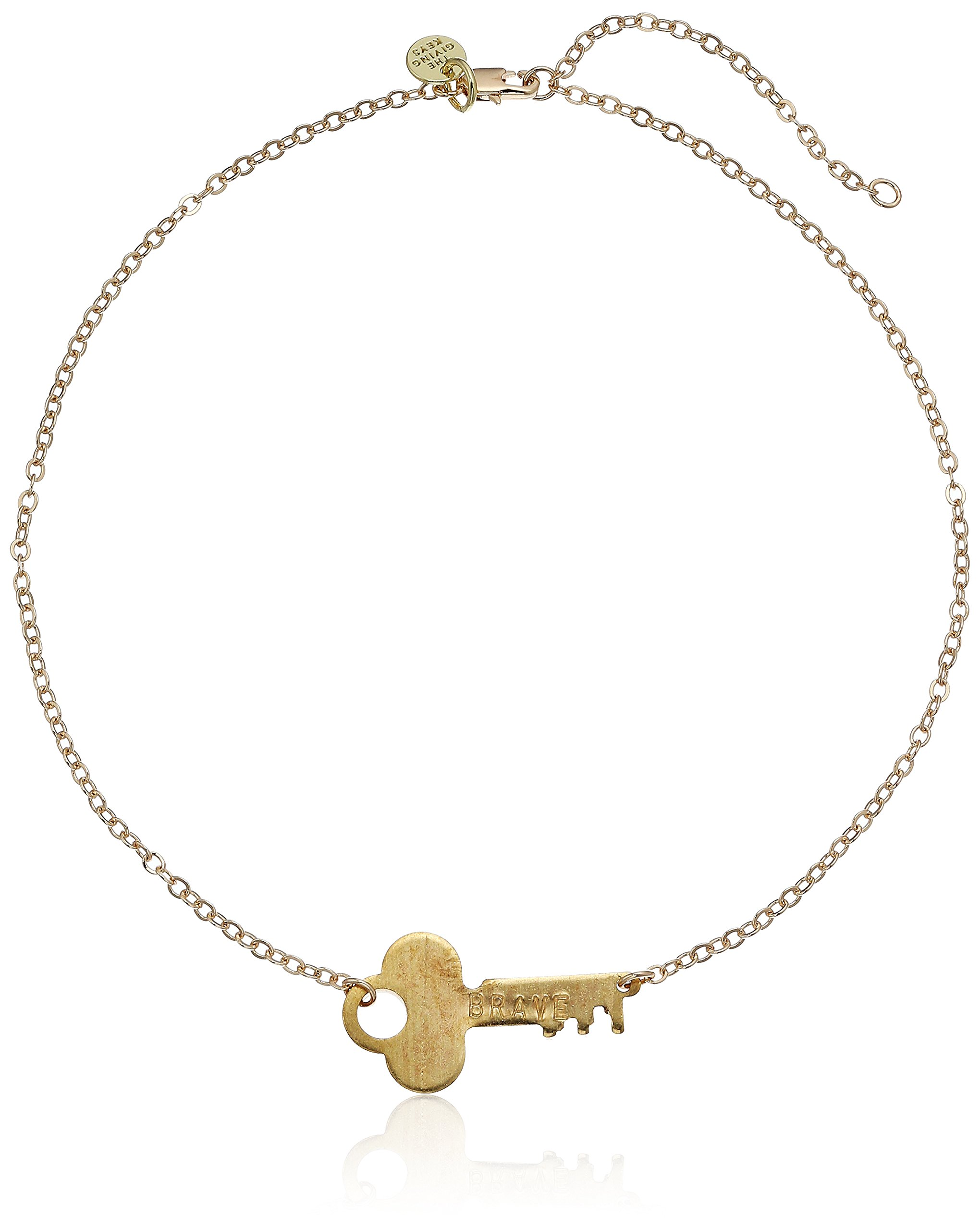 The Giving Keys BRAVE Neverending Gold Choker Necklace