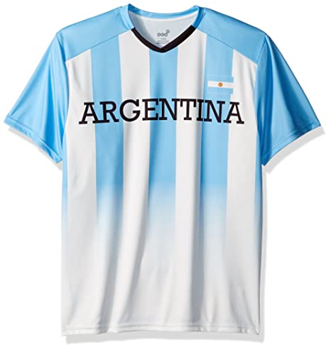 f535bc206db Outerstuff World Cup Soccer Argentina Men s Federation Jersey Short Sleeve  Tee