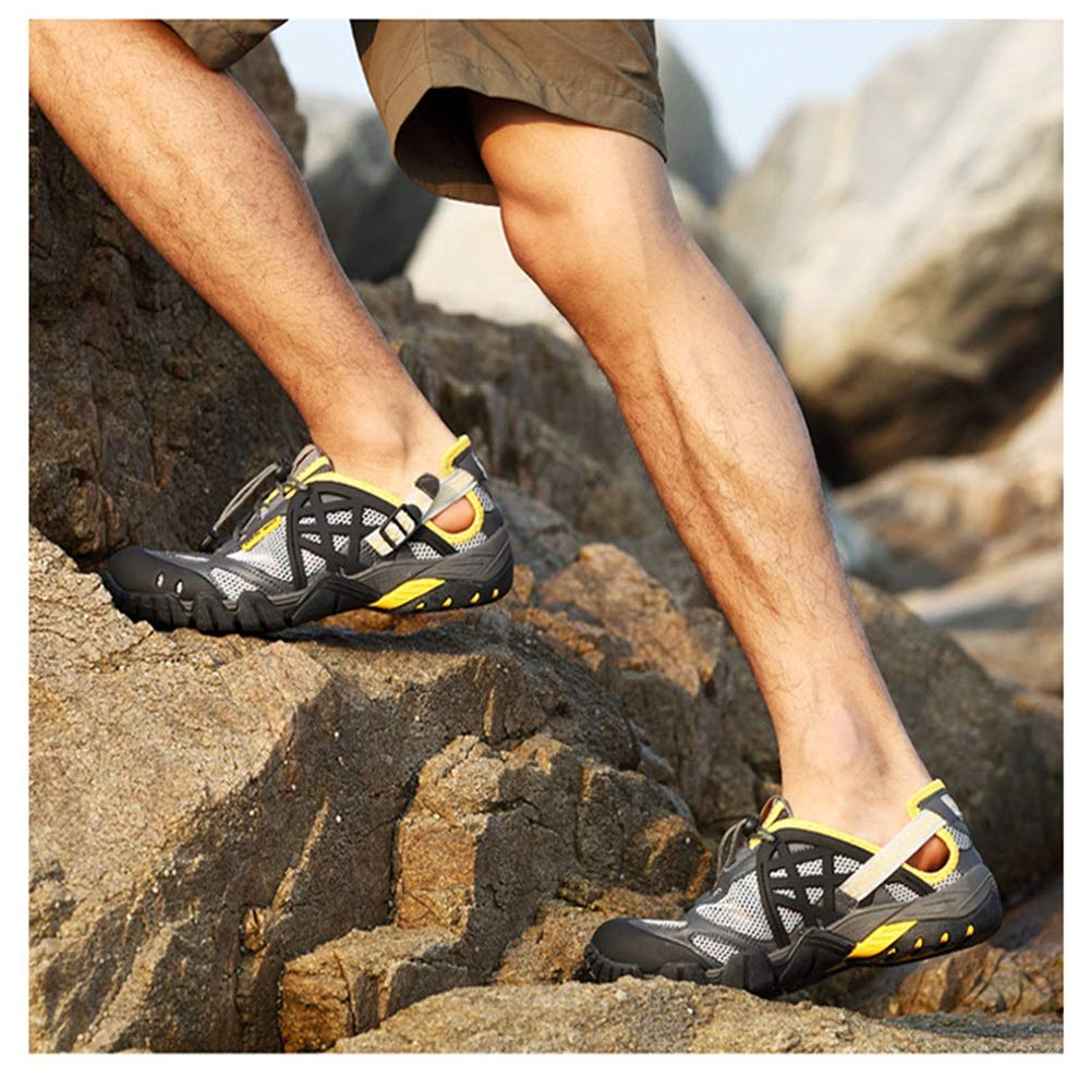 Ywqwdae Wasserdichte atmungsaktive Outdoor-Schuhe der Männer Bequeme Non Non Non Slip Water schuhe (Farbe   Grau, Größe   EU 40) 01e03a