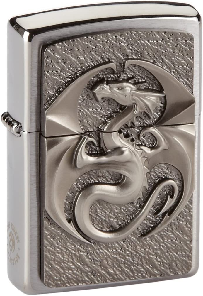 Zippo - Mechero Mechero, Dragon 3D, 3-D Emblema, Cromo: Amazon.es ...