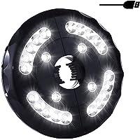 Miaoo - Lámpara LED para sombrilla (USB, 24 ledes, inalámbrica, para sombrillas, tiendas de campaña o uso al aire libre)