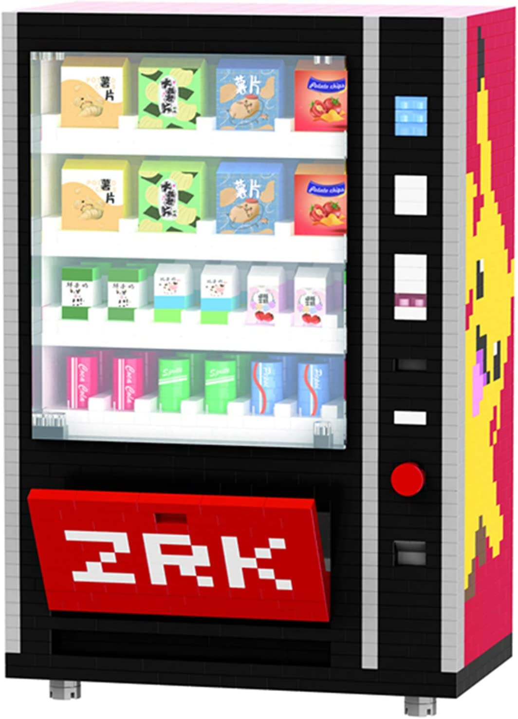 FJJF Mini Máquina Expendedora Bloques De Construcción Los Accesorios De La Ciudad De Ladrillos Beben Kits De Caja De Alimentos Establecer Juguetes De Bricolaje para Niños (2560 Unids)