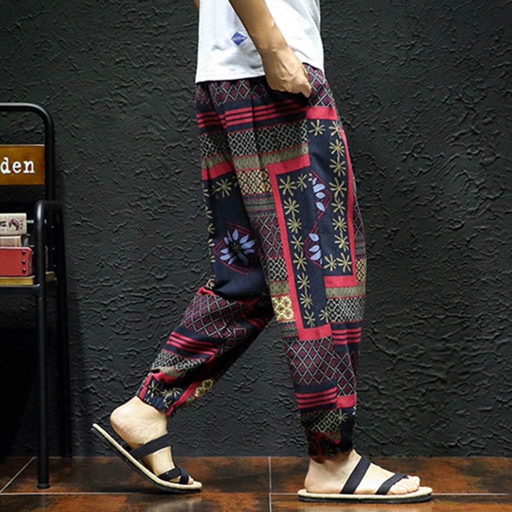 Haremshose Herren Yoga Hose Und Hippie Hose M/äNner Bequeme Lose Pumphose Aladinhose Pluderhose Yoga Hosen Jogginghose Pants Sporthosen Bohemien Retro Niedrigen Schritt Harem Hosen Pumphose