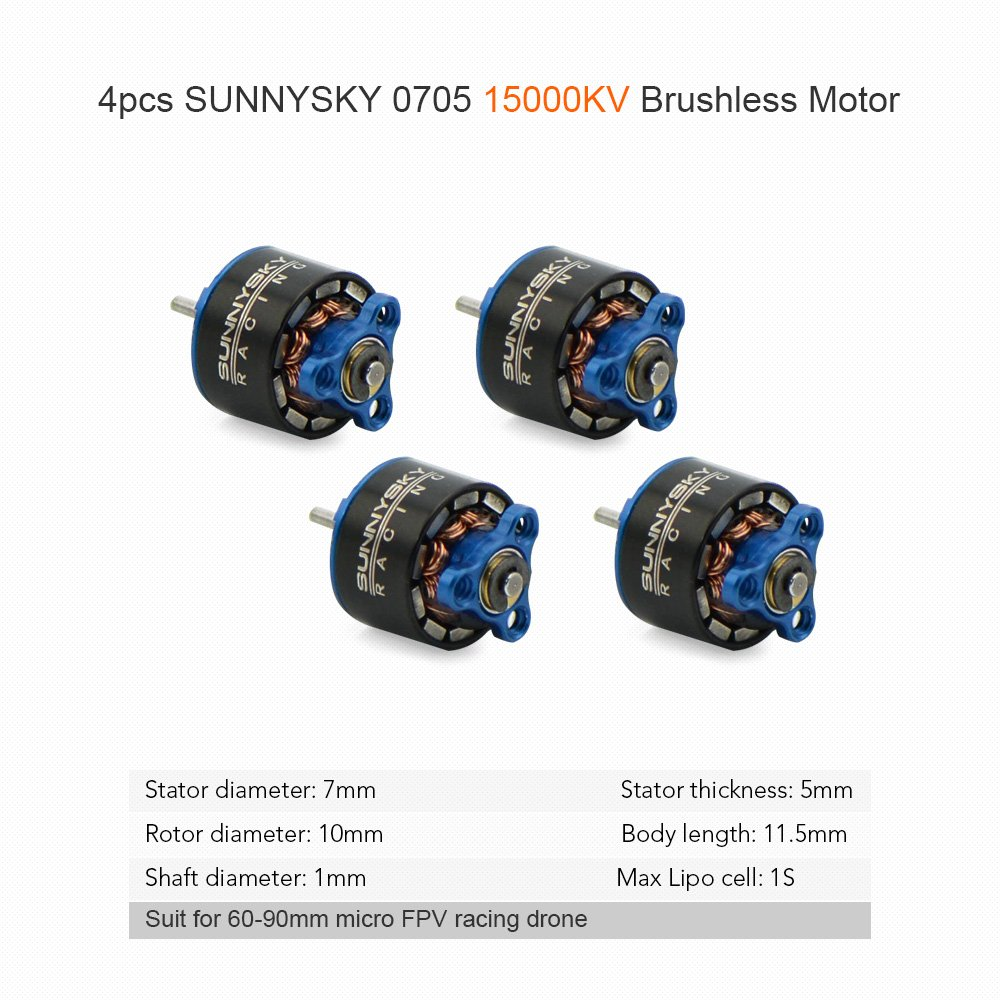 Goolsky 4pcs Sunnysky 0705 15000kv Brushless Motor For 60 70 80 90mm 11 Tooth Stator Wiring Diagram Micro Fpv Racing Drone Toys Games