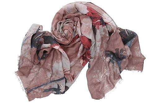 Sciarpa donna ROMEO GIGLI rosa pashmina con frange 100% viscosa box confezione
