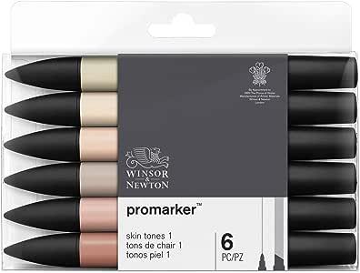 Winsor & Newton - Set de Rotuladores ProMarker, 6 Unidades, Tonos ...