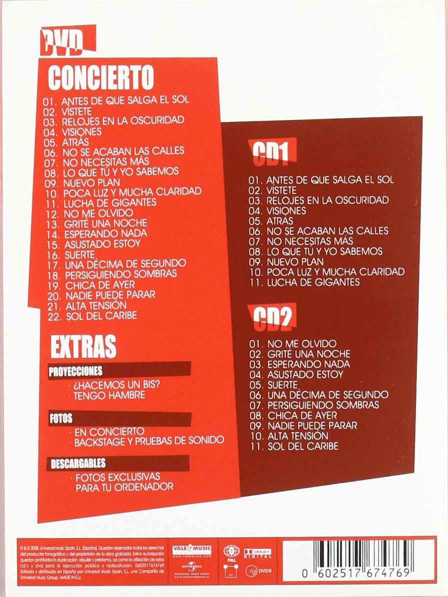 Tour 80/08 Reiniciando (CD + DVD): Amazon.es: Nacha Pop: Cine y Series TV