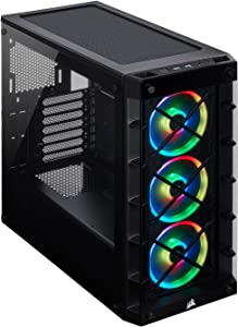 Corsair Icue 465X RGB Mid-Tower ATX Smart Case, Black
