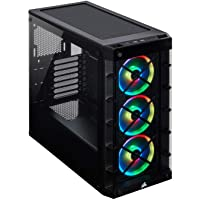 Corsair Icue 465X RGB Mid-Tower ATX Smart Case, Black - CC-9011188-WW