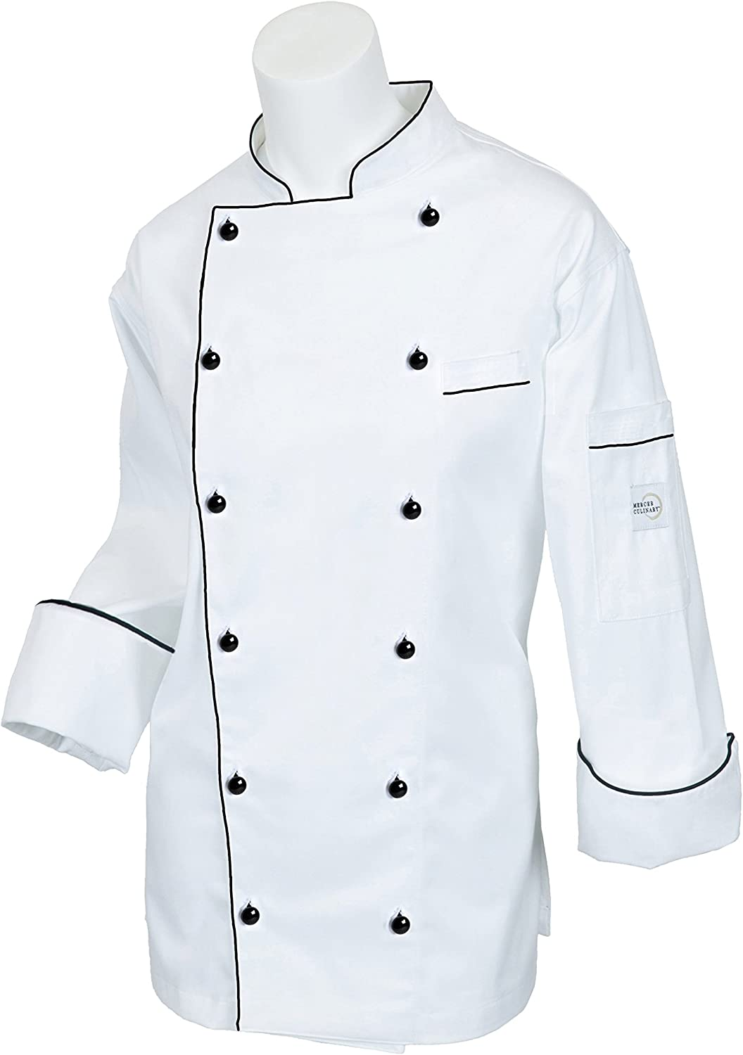 Mercer Culinary M62060WHXS Complete Free Shipping Renaissance Traditional Neck Purchase Women's