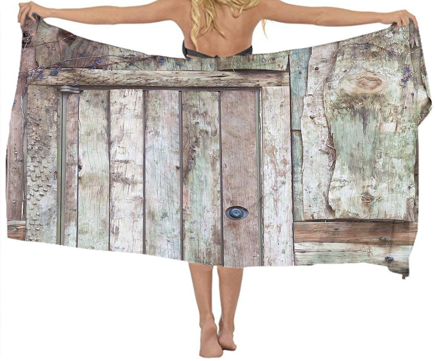 Yamenny Classic CuteOld Rustic Barn Door Cottage Rural Mystic Shawl and Comfort Wrap for Women&Girl,Non-Toxic Decor