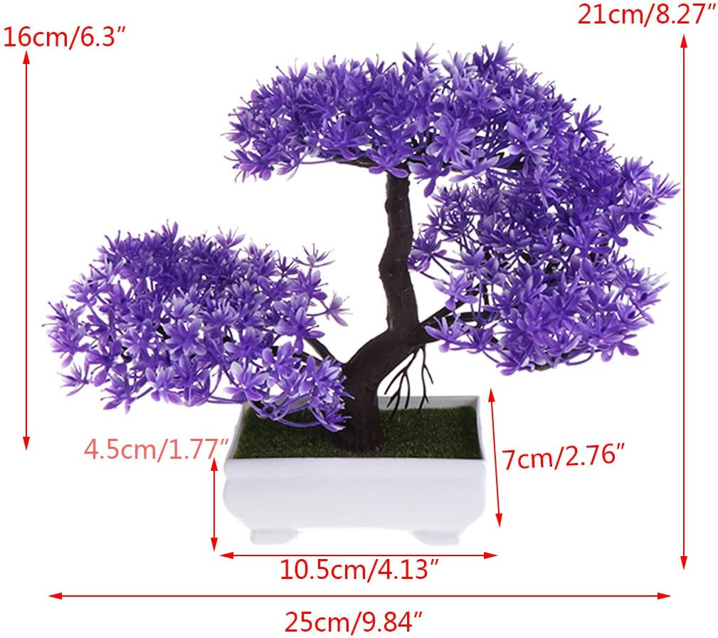 LIYUDL Artificial Pine Bonsai Fake Guest-Greeting Pine Mini Simulation Tree Plants with Pot for Home Weeding Office Decoration and Table Centerpieces Green