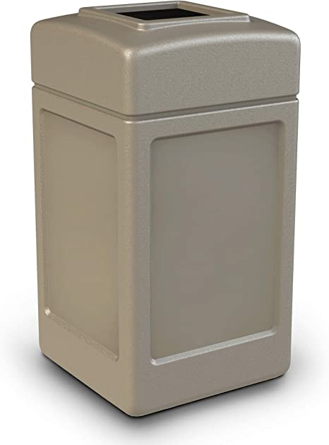 Amazon Com Commercial Zone 42 Gal Square Commercial Trash Can Home Kitchen