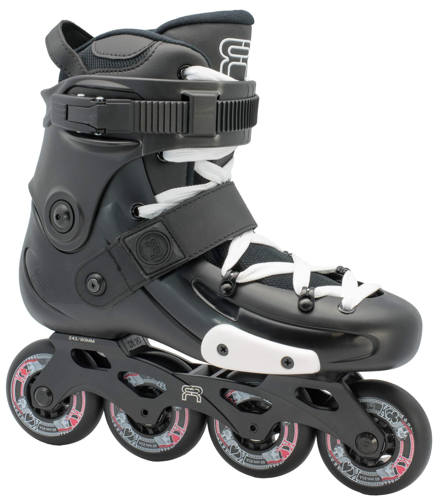 FR Skates FRX 80 2019 - Inline Skates for Freeride, Slalom, City Skating. Popular French Brand (M US 6 / EU38)