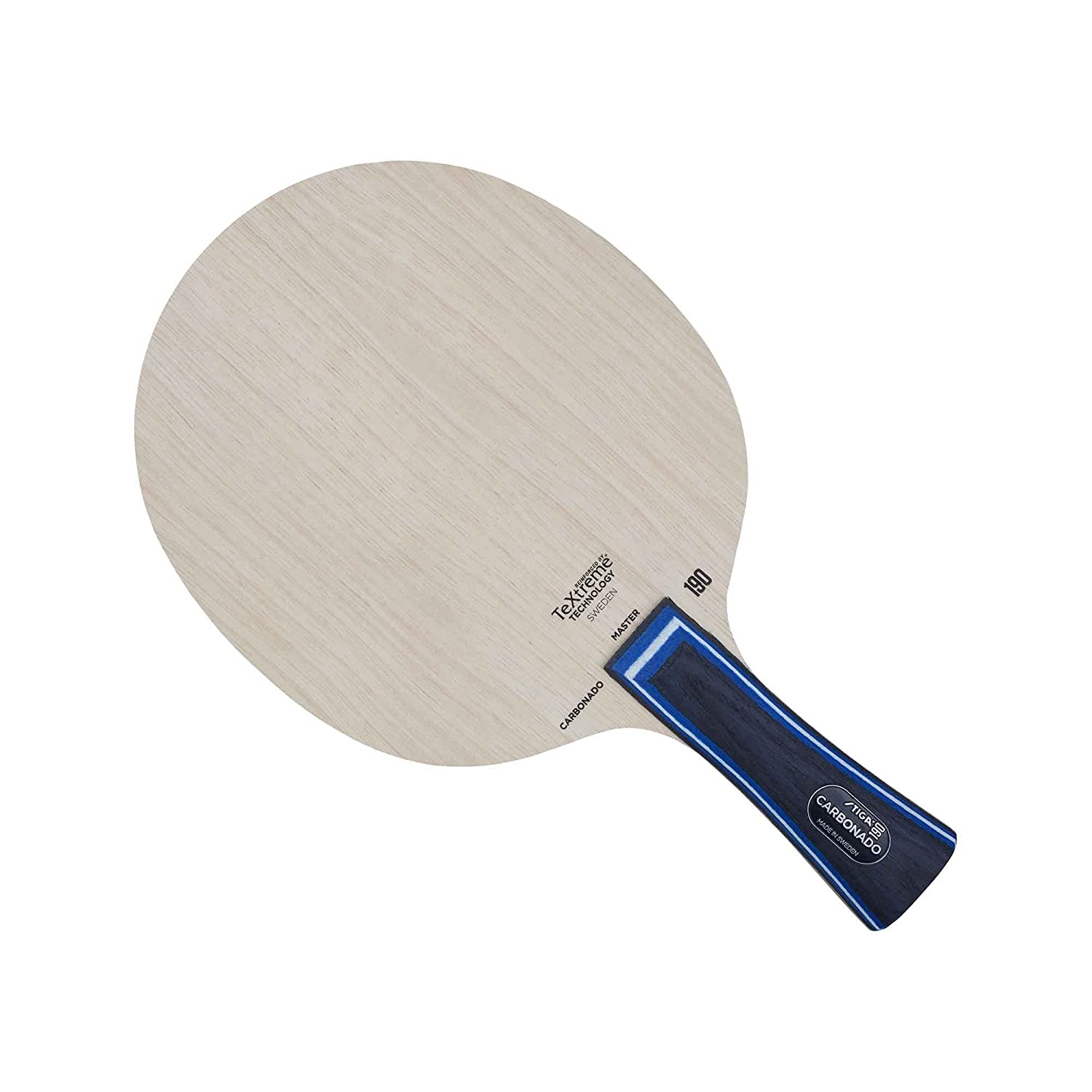 Stiga Unisex's 190 (Classic Grip) Carbonado Constructed with Carbon Layers in 90 Degrees Angle, Tree, One Size 106037