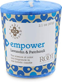 product image for Root Candles Seeking Balance 20-Hour Votive Candles, 18-Pack, Empower: Lavandin Patchouli, 18 Count