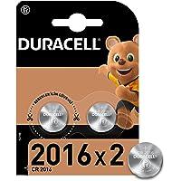 Duracell Özel 2016 Lityum Düğme Pil 3V, 2'li paket (CR2016) anahtarlıklar, tartılar, giyilebilen eşyalar ve tıbbi…