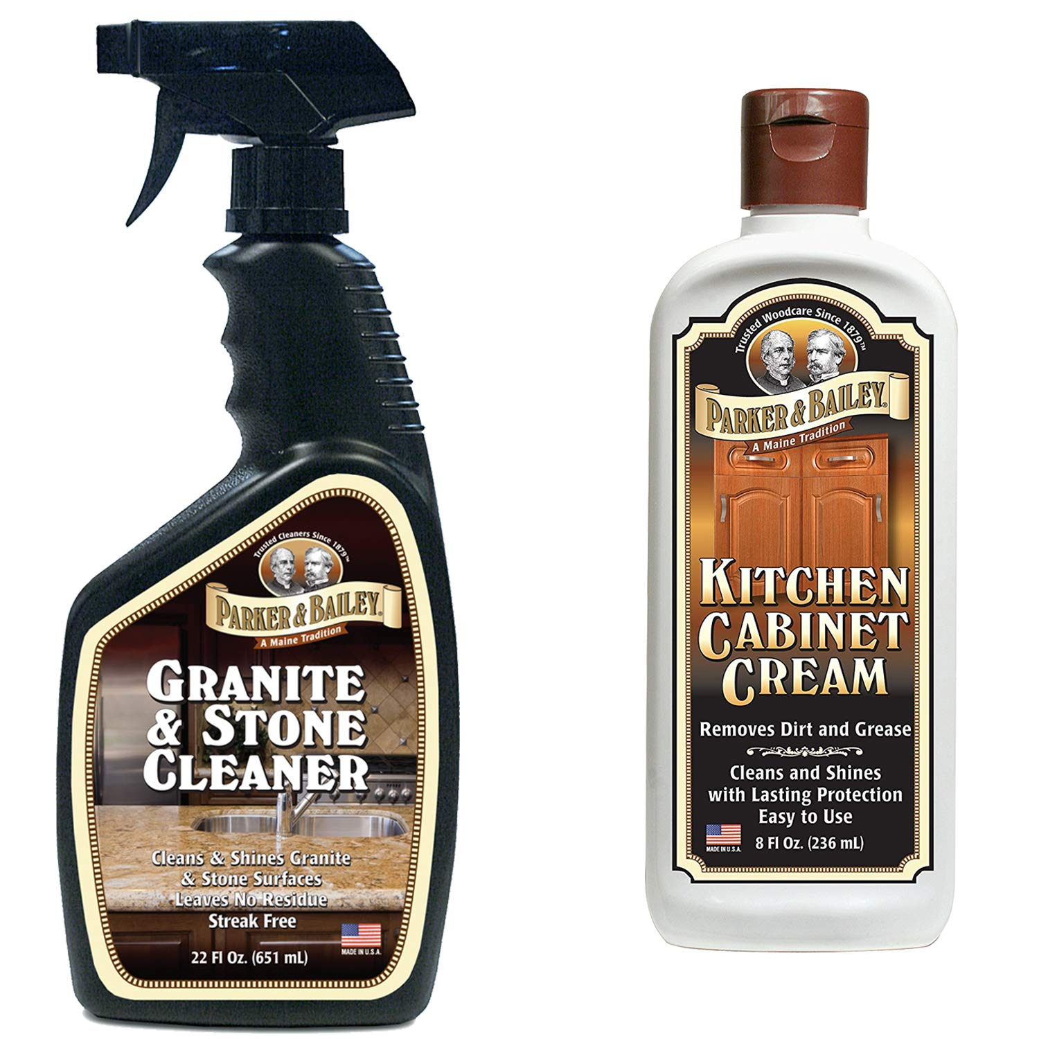 Parker and Bailey- Granite & Stone Cleaner Bundled with Kitchen Cabinet Cream by Parker & Bailey (Image #1)