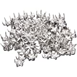 100pcs Silver Star Studs Nailheads 9mm