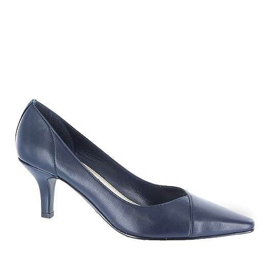 Women?s Easy Street Chiffon Mid Heel Pump NAVY 12 W