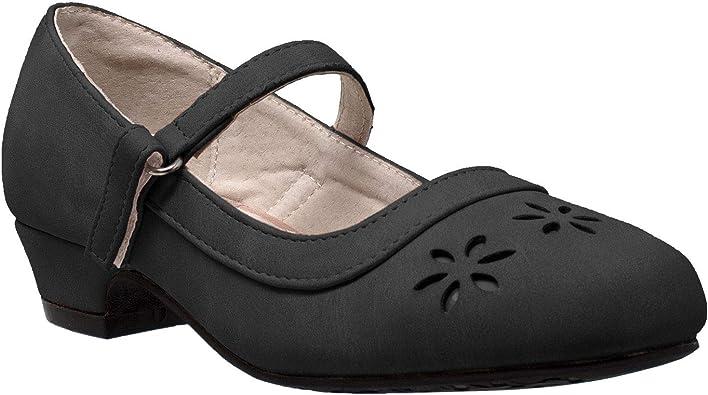 SOBEYO Kids Dress Shoes Mary Jane Girls