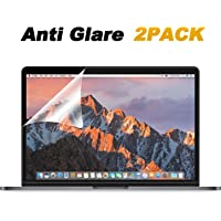 [2 Pack] Anti Glare(Matte) Screen Protector Compatible MacBook Pro 13 inch 2016-2019 Released Model A1706 A1708 A1989, with Anti Dust and Finger-Print Coating