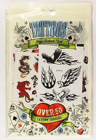 Sos All Ride Boys Temporary Tattoos 50 Designs Kids Tattoo Transfers