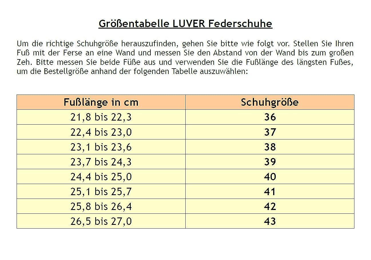 LUVER Federschuhe gefederte Damen Sandale - weiß - Sandale Federschuhe - clgjr2105w  - ee73ab