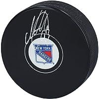 Mika Zibanejad New York Rangers Autographed Hockey Puck - Autographed NHL Pucks photo