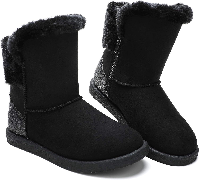tombik Girls Faux Fur Zip Winter Snow
