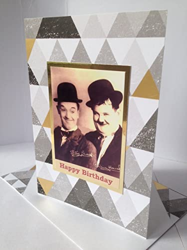 Amazon Laurel And Hardy Birthday Card Famous Double Comedy Act