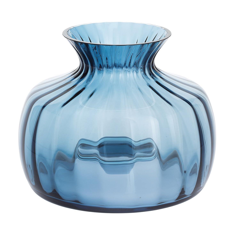 ダーティントンクリスタルクッション花瓶インクブルーミディアム、16 x 16 x 14.5 cm B06WVCHPFG