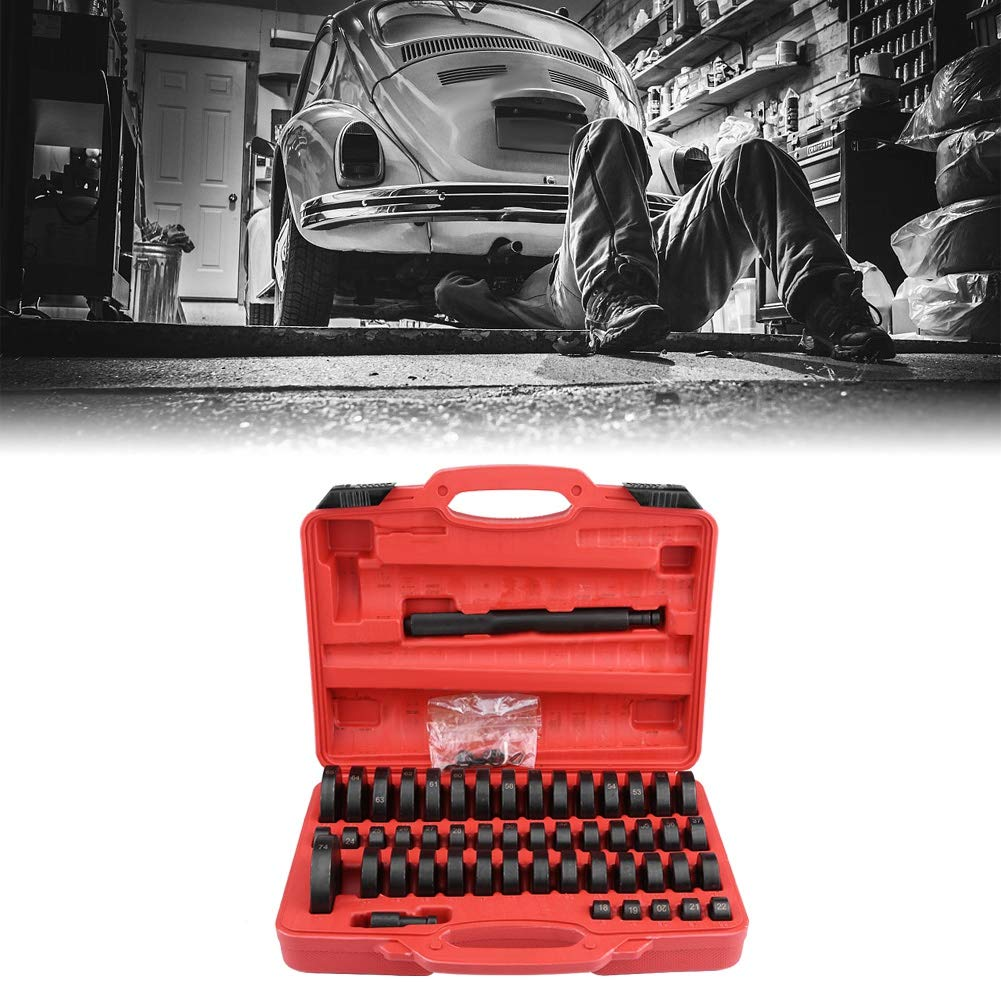 Bush Bearing Seal Driver Set, 51pcs Interchangeable Custom Bushing Press Set Remover Installer Removal Built Hand Tool Slide Hammer Puller Kit for Car Repair by Zerone (Image #3)