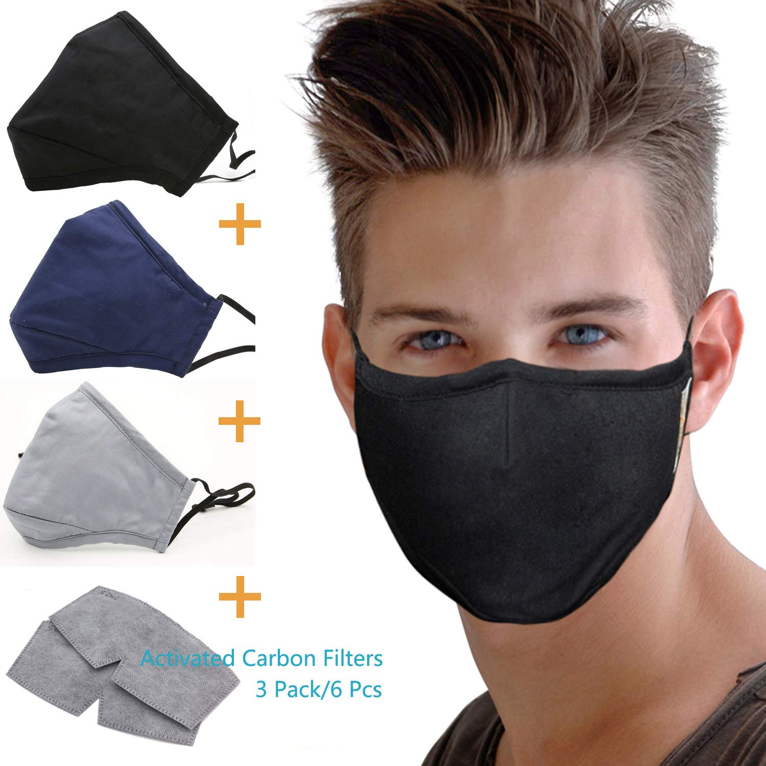 Activated Carbon Filter Anti Dust Face Mouth Mask, WITERY Warm Anti Dust Mask Anti-fog Mask Antibacterial Adjustable Earloop Mouth Mask Face Masks for Men Women