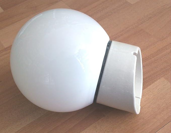 Plafoniere Globo : Plafoniera applique base porcellana con globo vetro attacco e