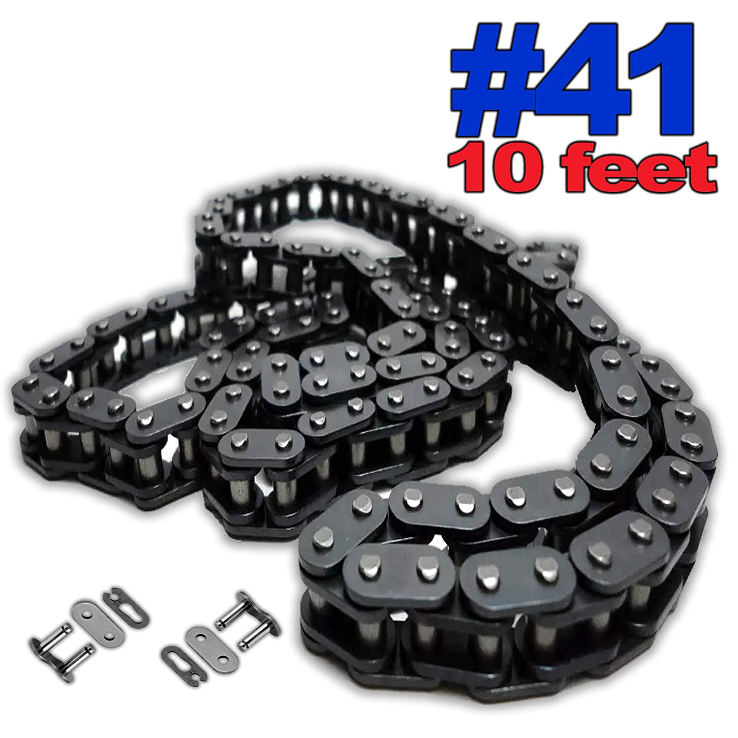 PGN 2 Free Connecting Links #41 Roller Chain x 10 feet